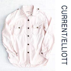 Current Elliott Perfect Shirt Pink sz M